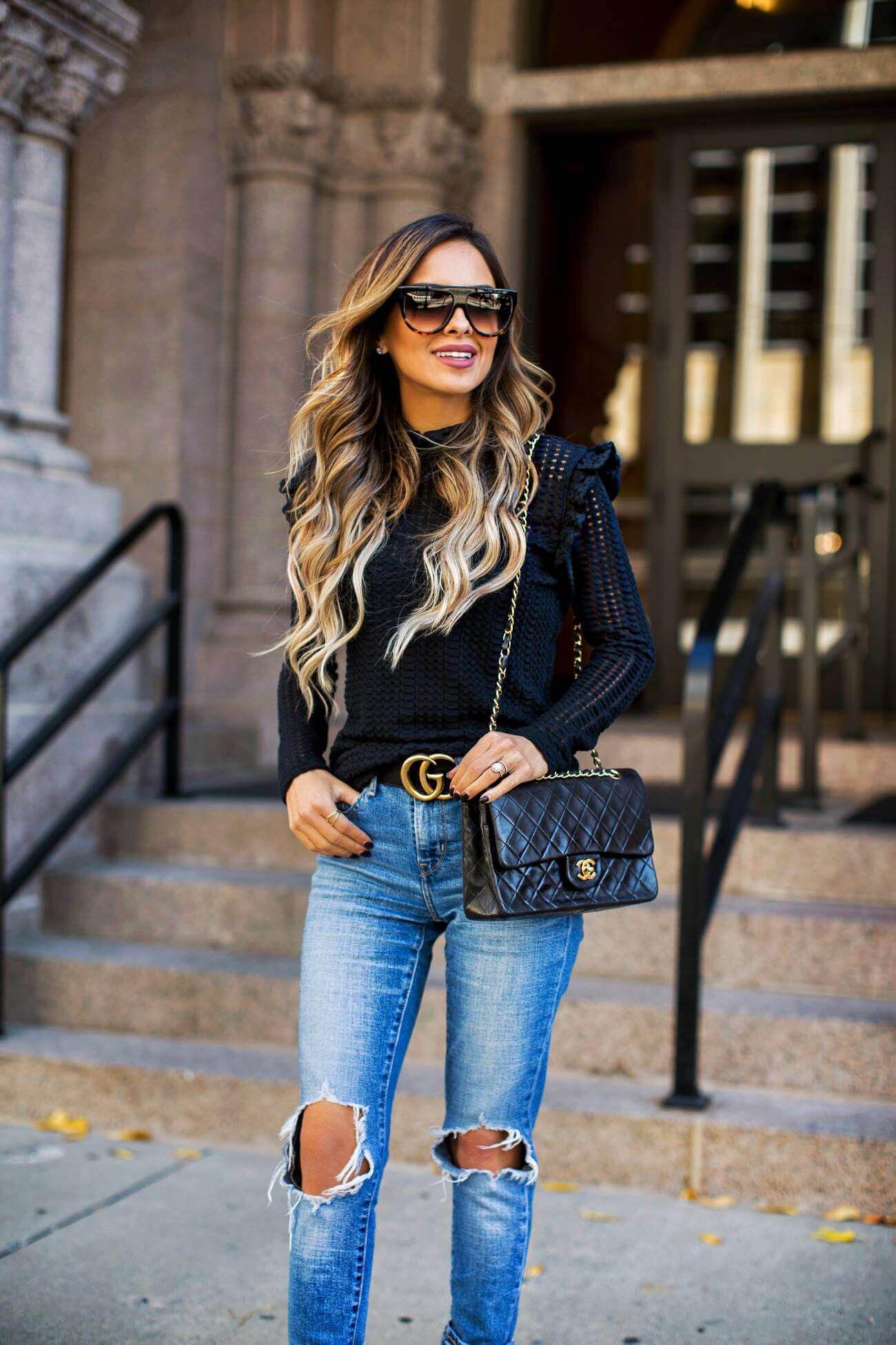 fashion blogger mia mia mine wearing a black turtleneck sweater from  nordstrom wearing a black turtleneck from nordstrom and a gucci double g  buckle belt ab6d8ea2d