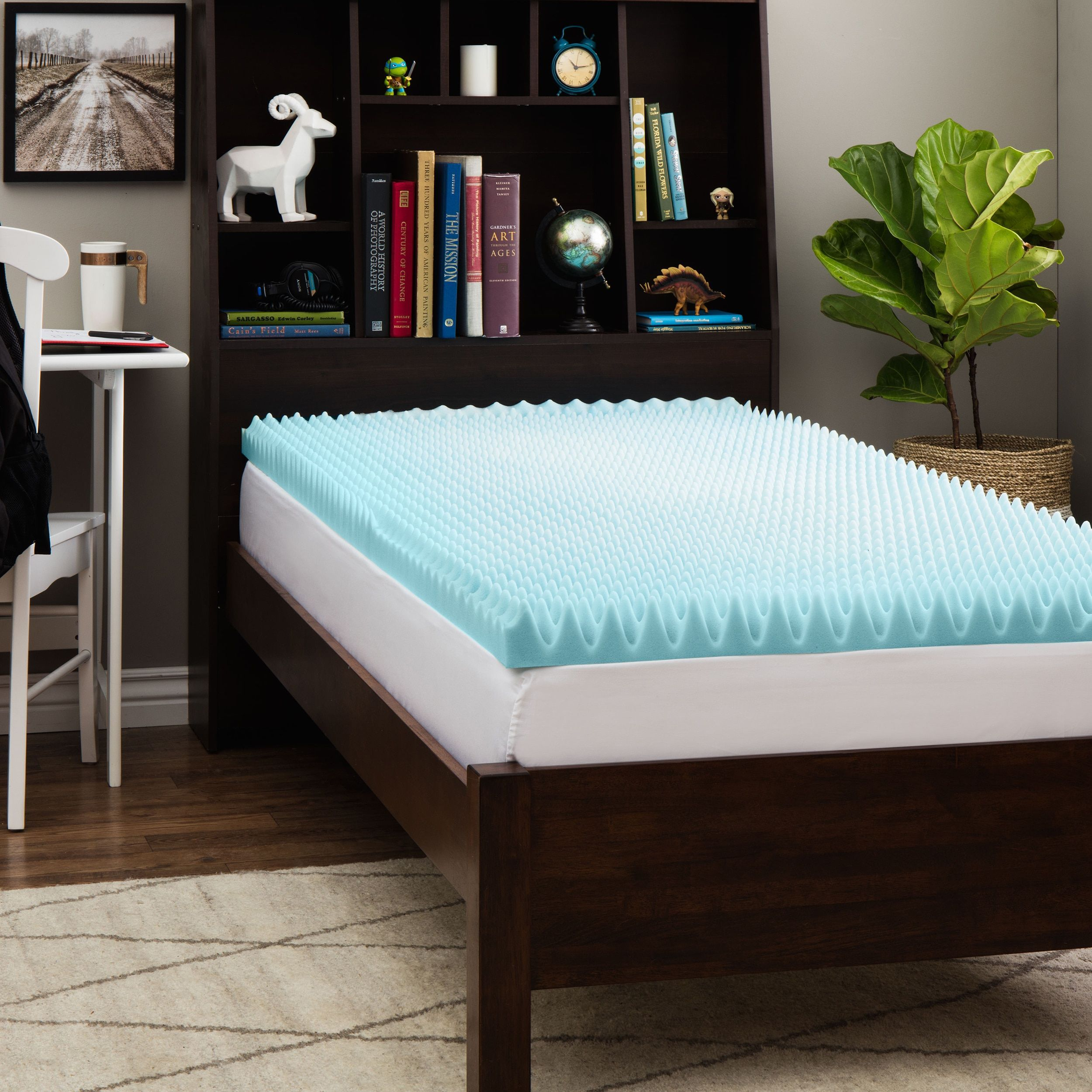 inch comfort overstock free foam bedding topper solutions shipping today choose gel bath your mattress memory product slumber