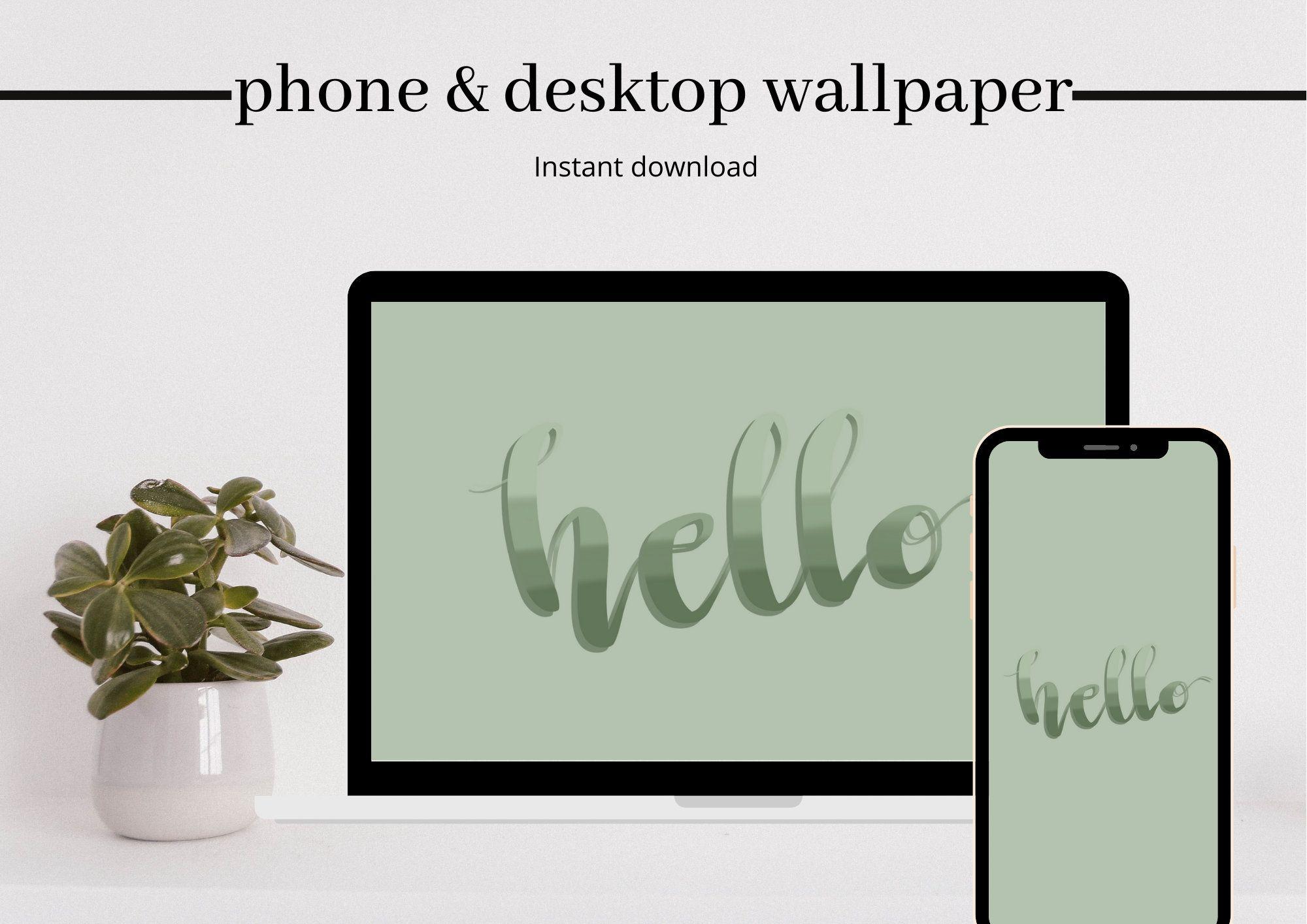 Minimal 4 Pack Phone Wallpaper Iphone Wallpaper Laptop   Etsy