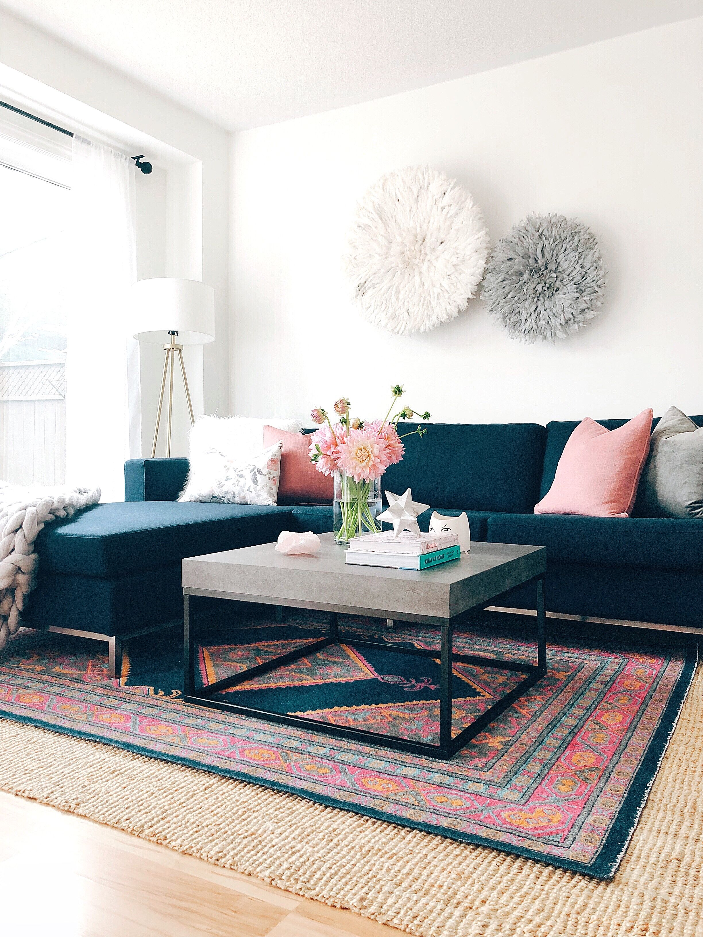 Navy Blue Sectional Sofa Blue And Pink Living Room Blue Living Room Navy Sofa Living Room #navy #blue #sectional #living #room