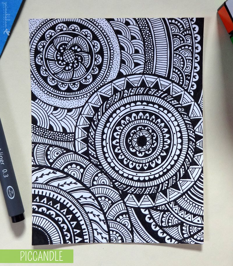 Easy Doodle Art Designs : Doodle circular pattern design