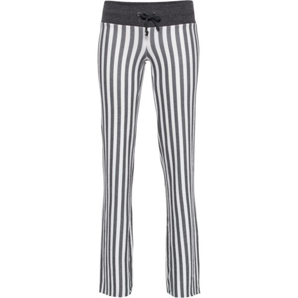 WILDFOX Fox Stripe Baggy Beach Pants // Flared fleece sweatpants (€39) ❤ liked on Polyvore featuring activewear, activewear pants, gray sweat pants, fleece sweat pants, sweat pants, grey sweatpants and gray sweatpants