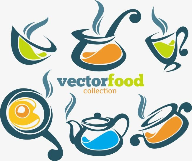 Color Fresh Kitchen Utensils Vector Decoration Color Png And