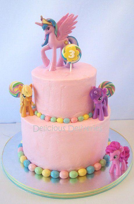 Ellies Birthday Cake My Little Pony Cake Birthday Party Cake Girl