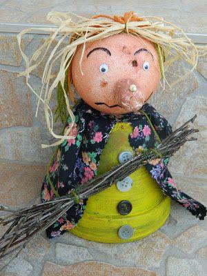 Čarodějnice z květináče | Halloween arts and crafts, Halloween art, Crafts  for kids