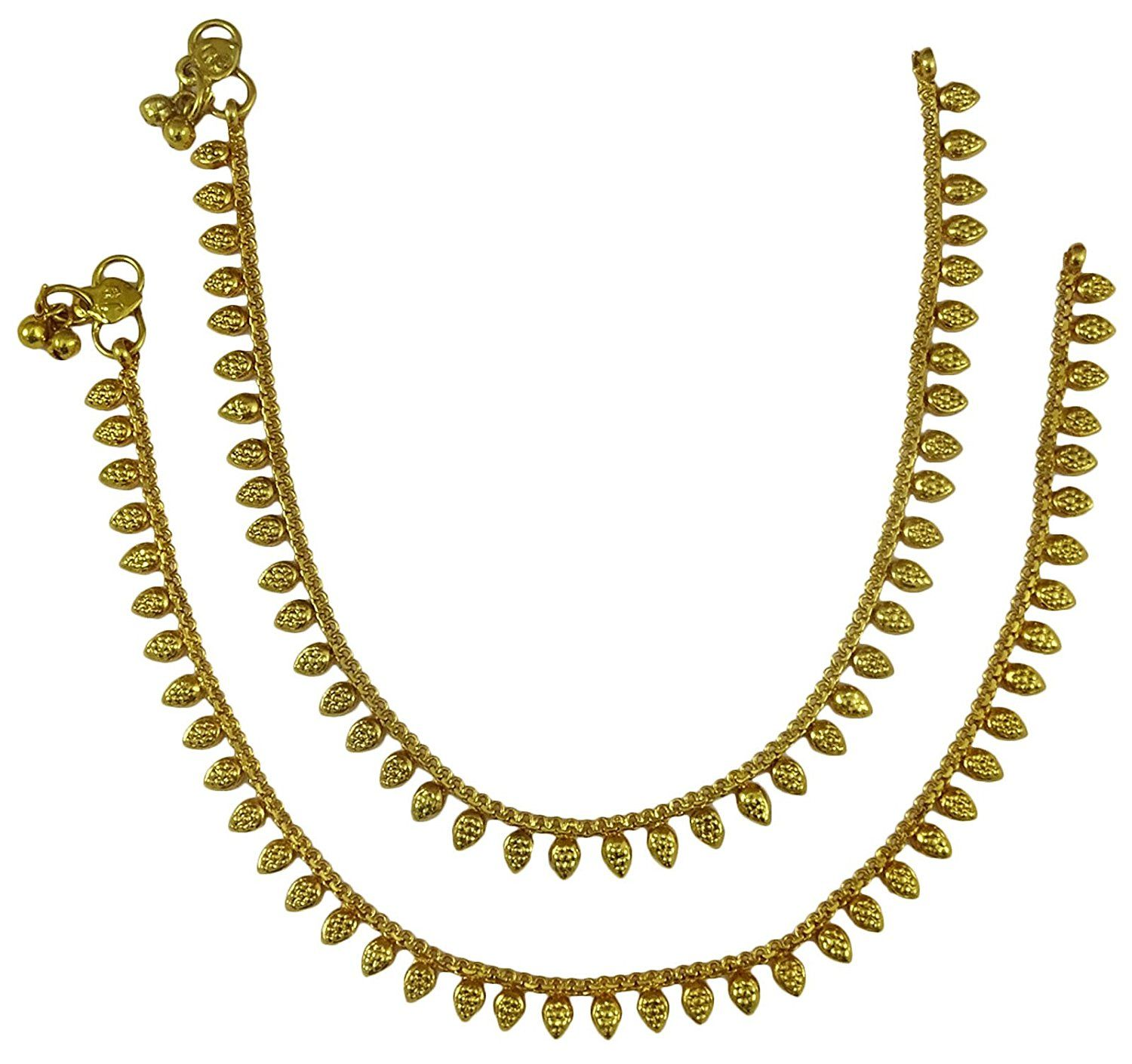 gold guaranteed products copy griiham designer payal anklet gram free of ankletpayal plated one size
