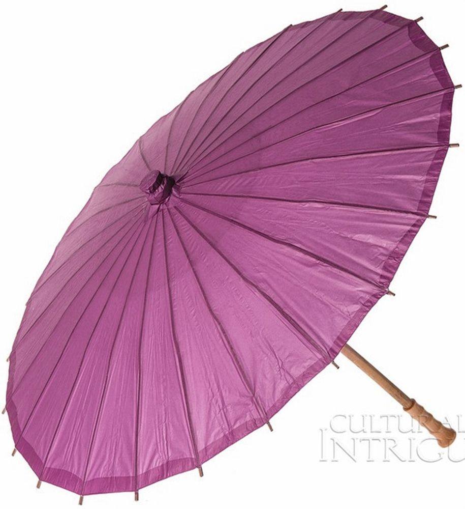 Parasol (32-Inch, Orchid Purple) - Chinese/Japanese Paper Umbrella ...