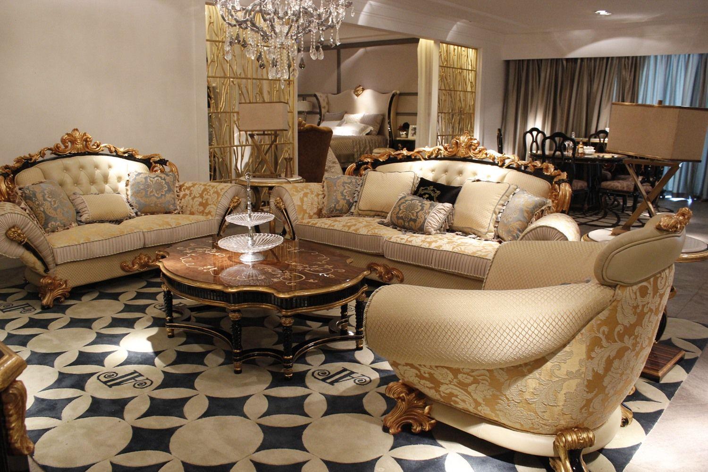 Kursi Tamu Mewah Froge Klasik Ukir Gold Harga Pintu Ruang Keluarga Mewah Set Sofa Furnitur Ruang Keluarga