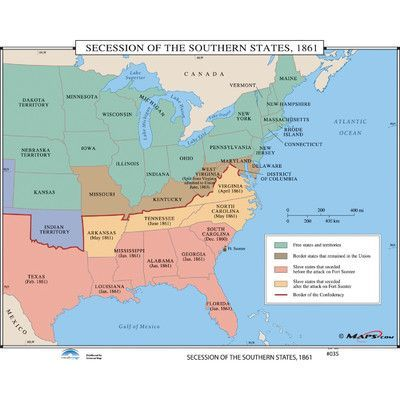 Fort Sumter On Us Map.Universal Map U S History Wall Maps Secession Of The Southern