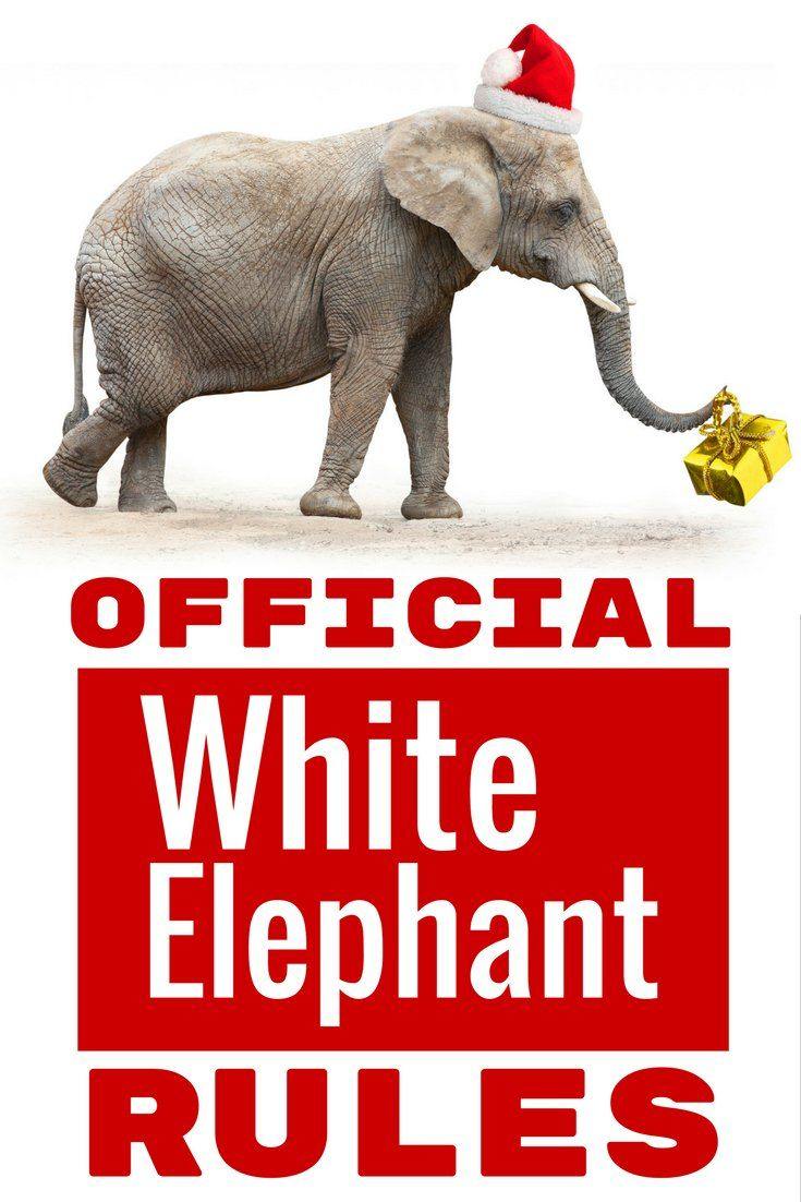 Official white elephant gift exchange rules holidays pinterest official white elephant gift exchange rules holidays pinterest white elephant gift gift and holidays negle Gallery