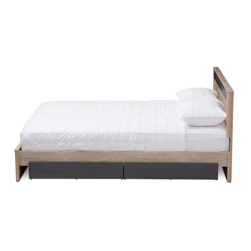 Nord Queen Upholstered Storage Platform Bed Queen Size Platform