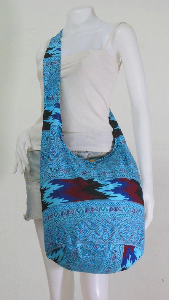 USA SHIPPING** Blue Cotton, Crossbody, Shoulder bag, Hippie, Boho ...