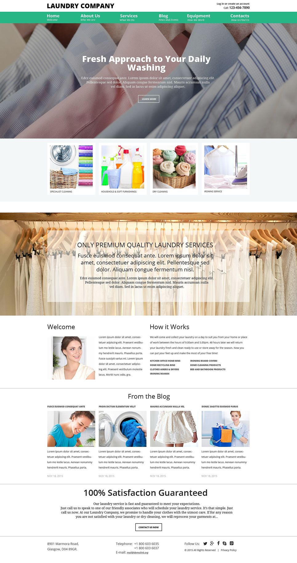 Laundry Service Joomla Template