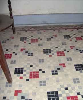 Classic older linoleum ourtesy of US Forest Service love old
