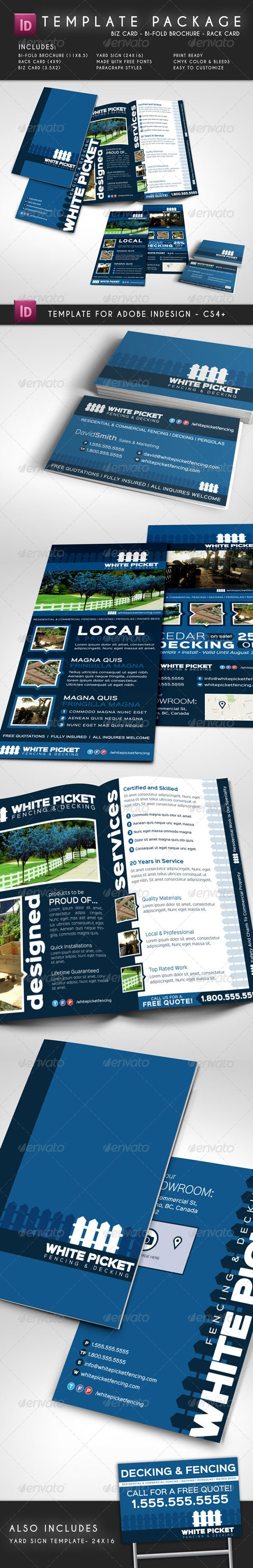 Template Package  Brochure  Rack Card  Biz Card  Brochures