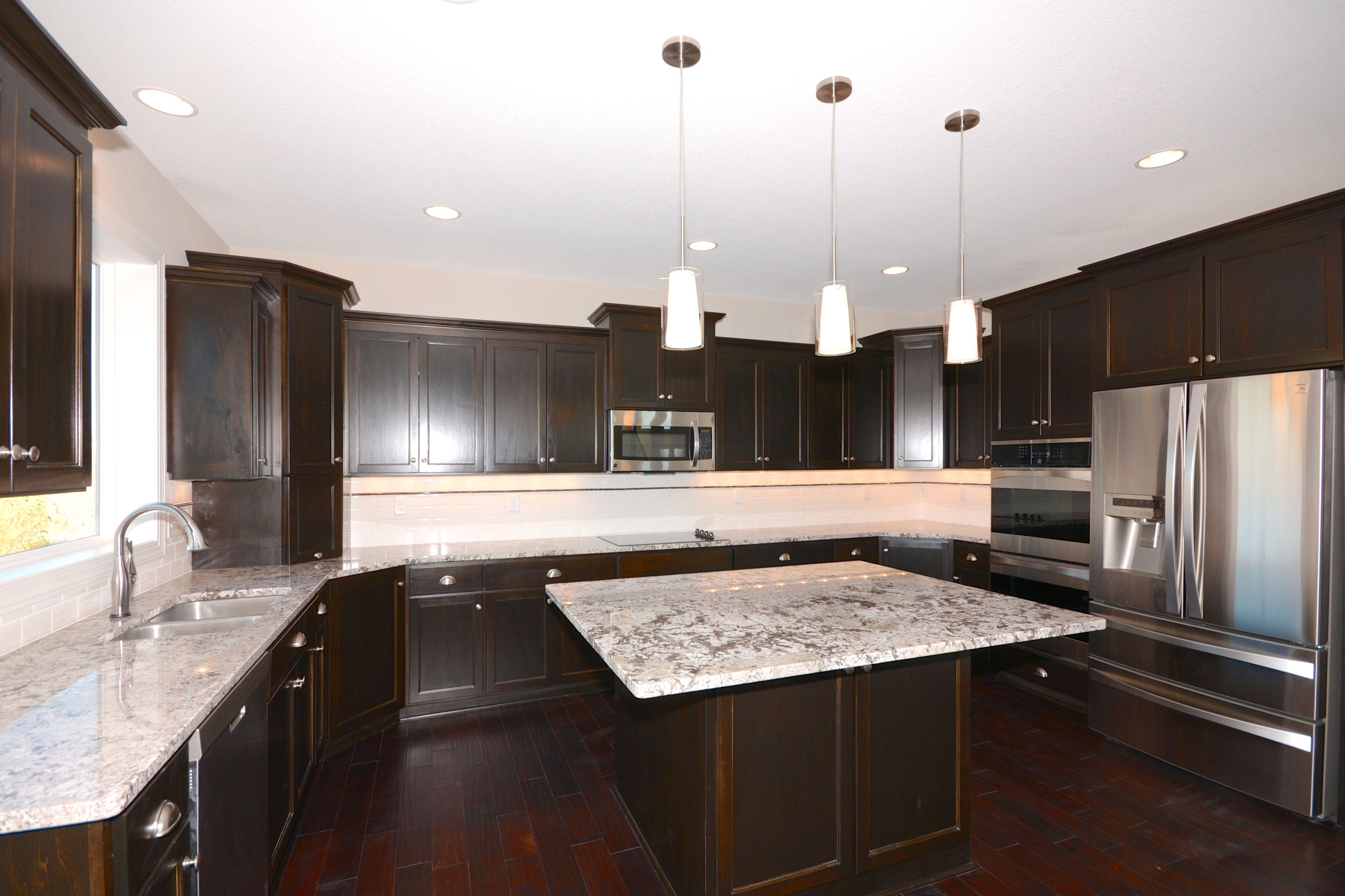 17 Ft Wide Kitchen Poplar Cabinets Black Walnut Stain Client Build 2013 Poplar Cabinets Kitchen Custom Built Homes