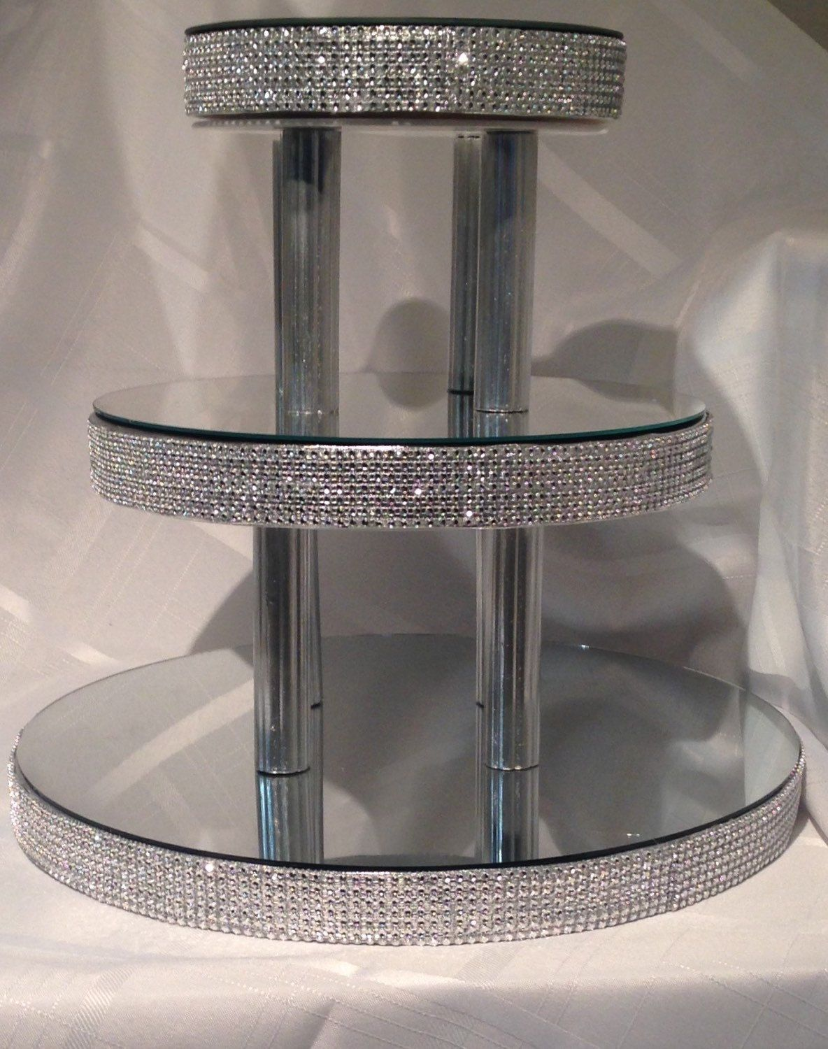 Bling Cupcake Stand 3 Mirrored Tiers In 2019 Wedding