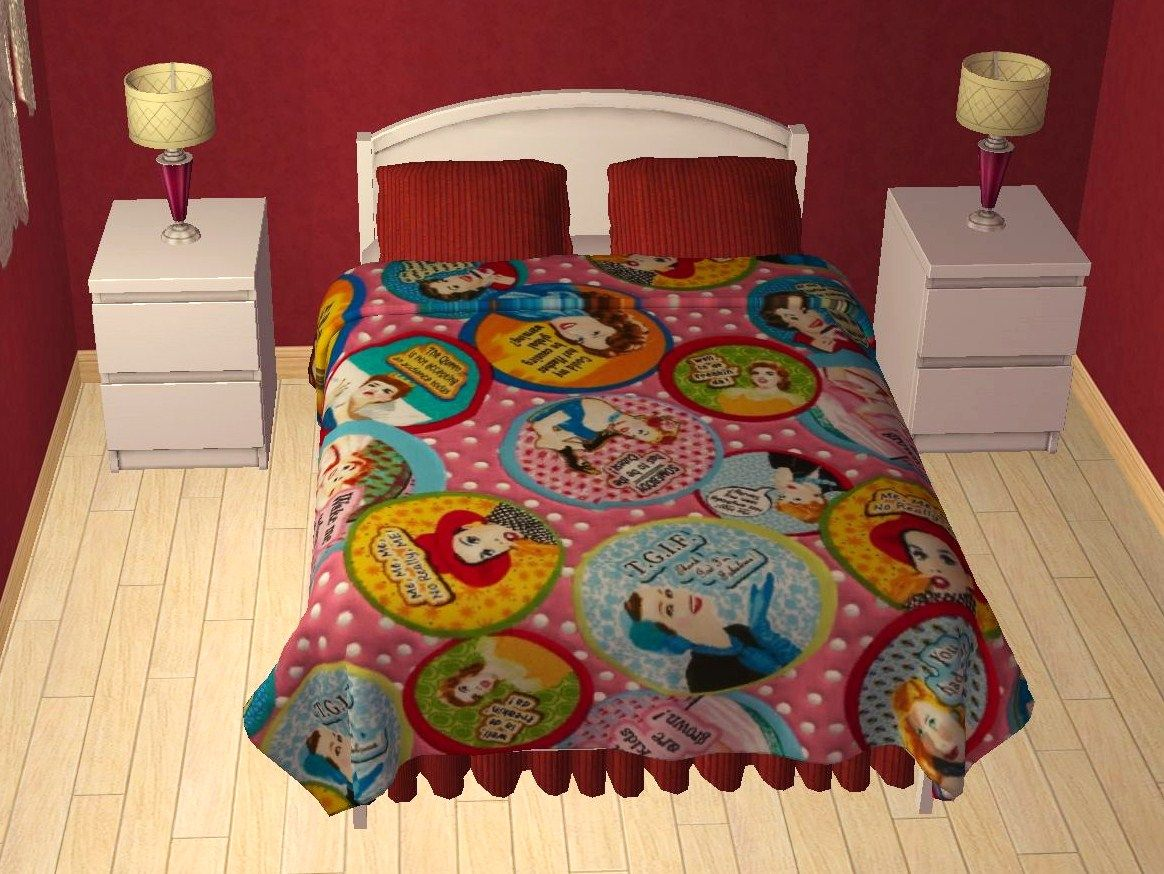 Download   Ellasims Bed Blanket Edit And Recolors   Deeu0027s Sims 2, Badezimmer  Ideen