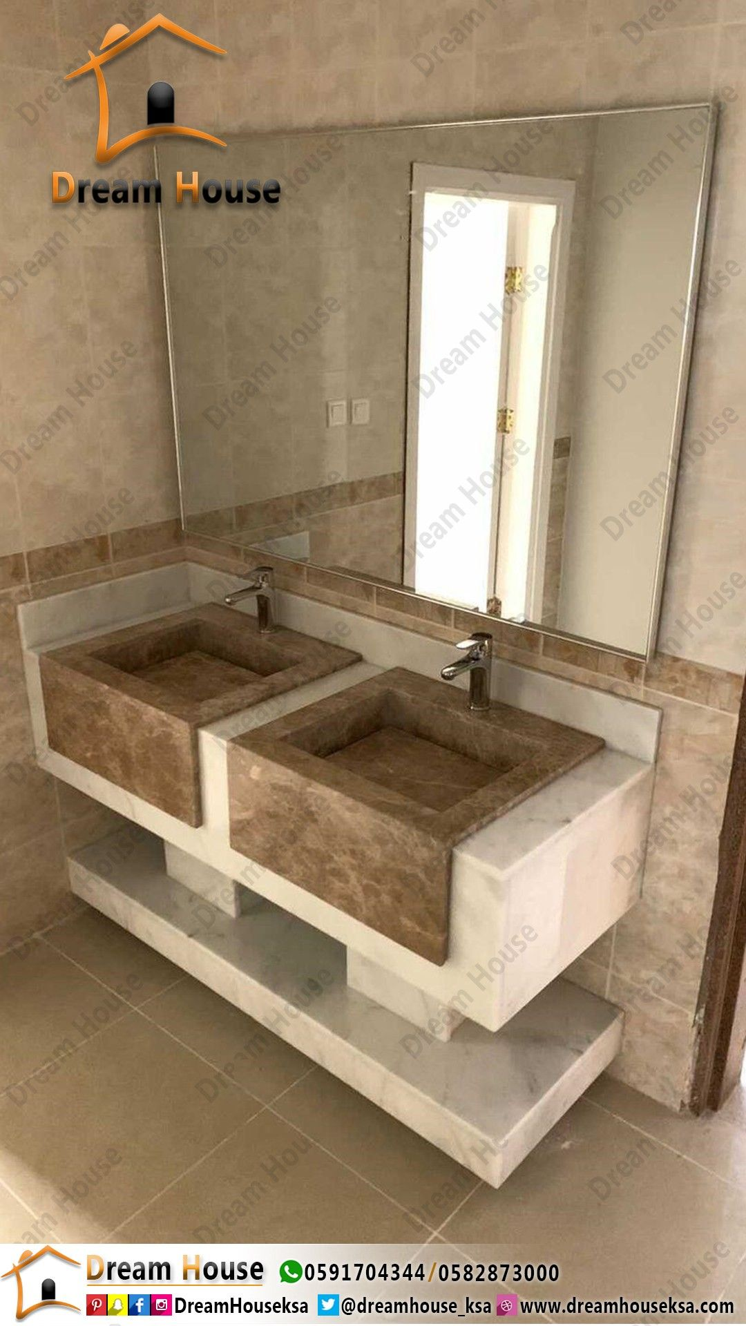 Pin By مغاسل منزل الاحلام On مغاسل رخام ملكي In 2021 Bathroom Vanity Home Decor Double Vanity