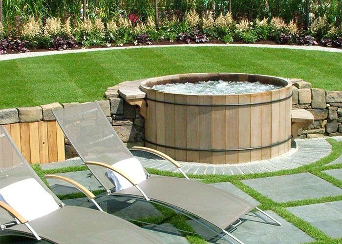 Photo of Round Western Red Cedar Hot Tubs – Robert's Hot Tubs
