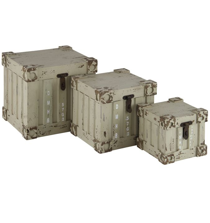 Vintage inspired Military Storage Containers littlewhitedaisycouk