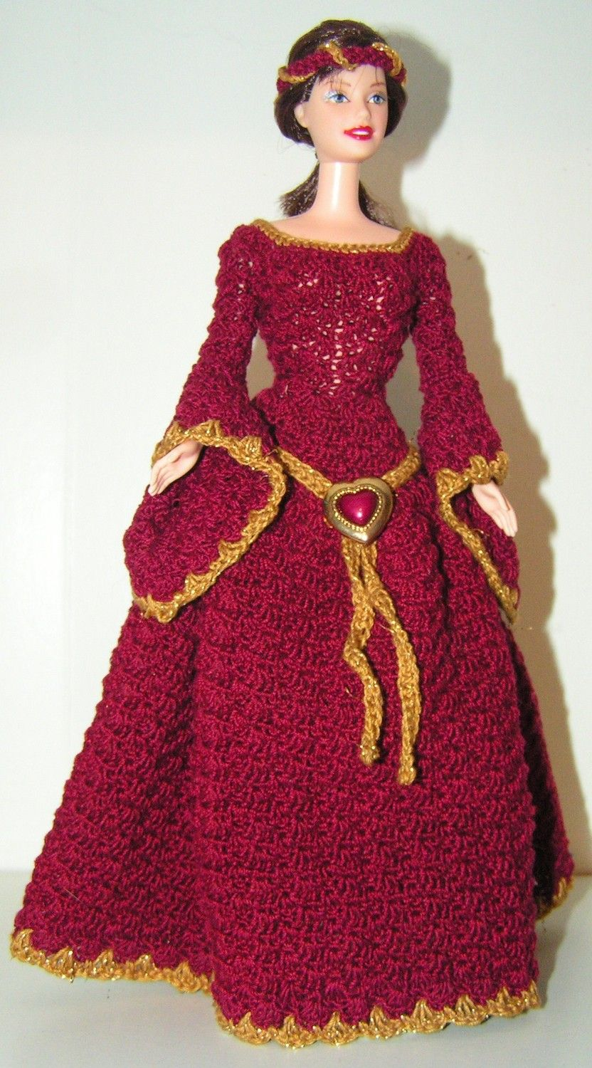 Crochet pattern barbie guinevere 495 via etsy b barbie barbie dress crochet pattern bankloansurffo Image collections