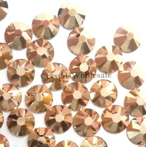 612874373 1440 Swarovski 2058 7ss 2.3mm flatback rhinestones ss7 CRYSTAL ROSE GOLD F