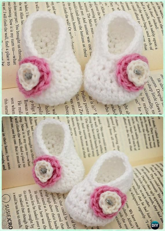 Crochet Basic Baby Booties Free Pattern - #Crochet Baby Booties ...