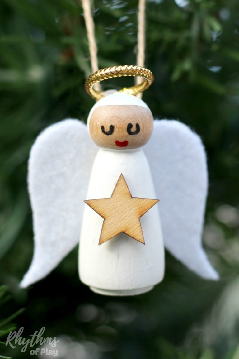 Diy Wooden Angel Christmas Ornaments Christmas Angels Diy Christmas Ornaments Homemade Christmas Angels