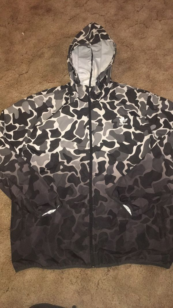 Adidas camo dipped windbreaker XL | Adidas camo, Windbreaker