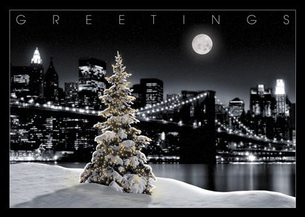 Snowy Tree With New York City Skyline - To Be Announced