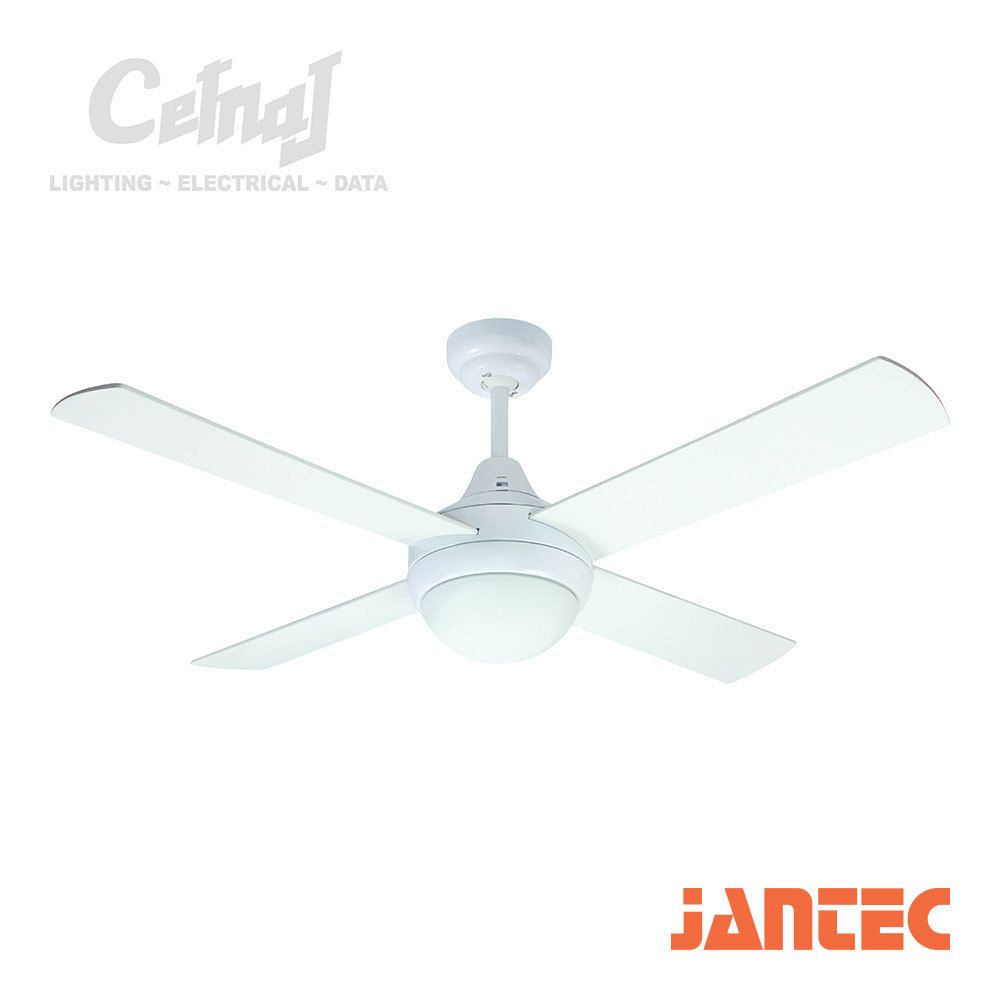Accord Ceiling Fan With Light White Cetnaj Electrical