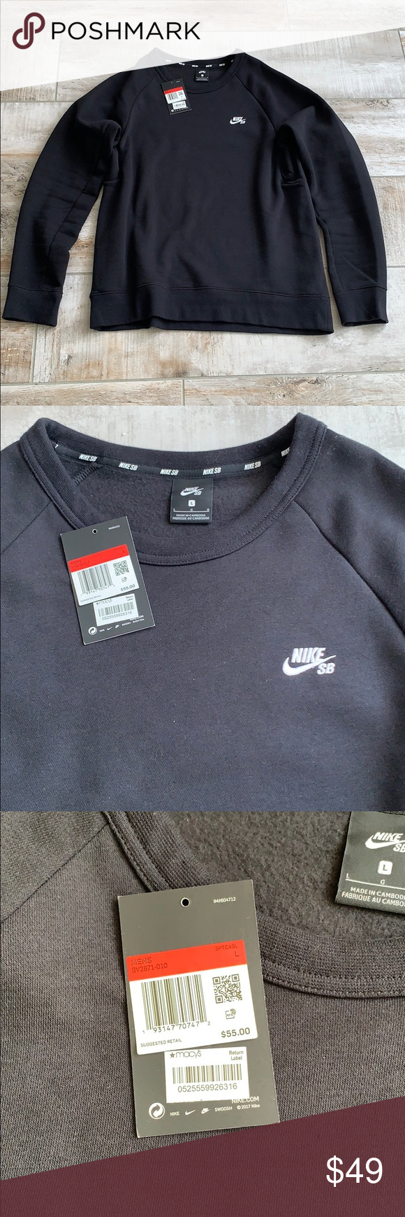 Nike Sb Sweater Long Sleeve Tshirt Men Sweaters Sweater Hoodie [ 1740 x 580 Pixel ]