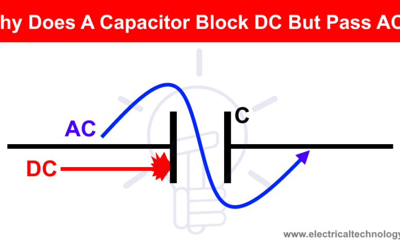 Why Does A Capacitor Block Dc But Pass Ac Electrical Technology Capacitor Electricity Electronic Engineering