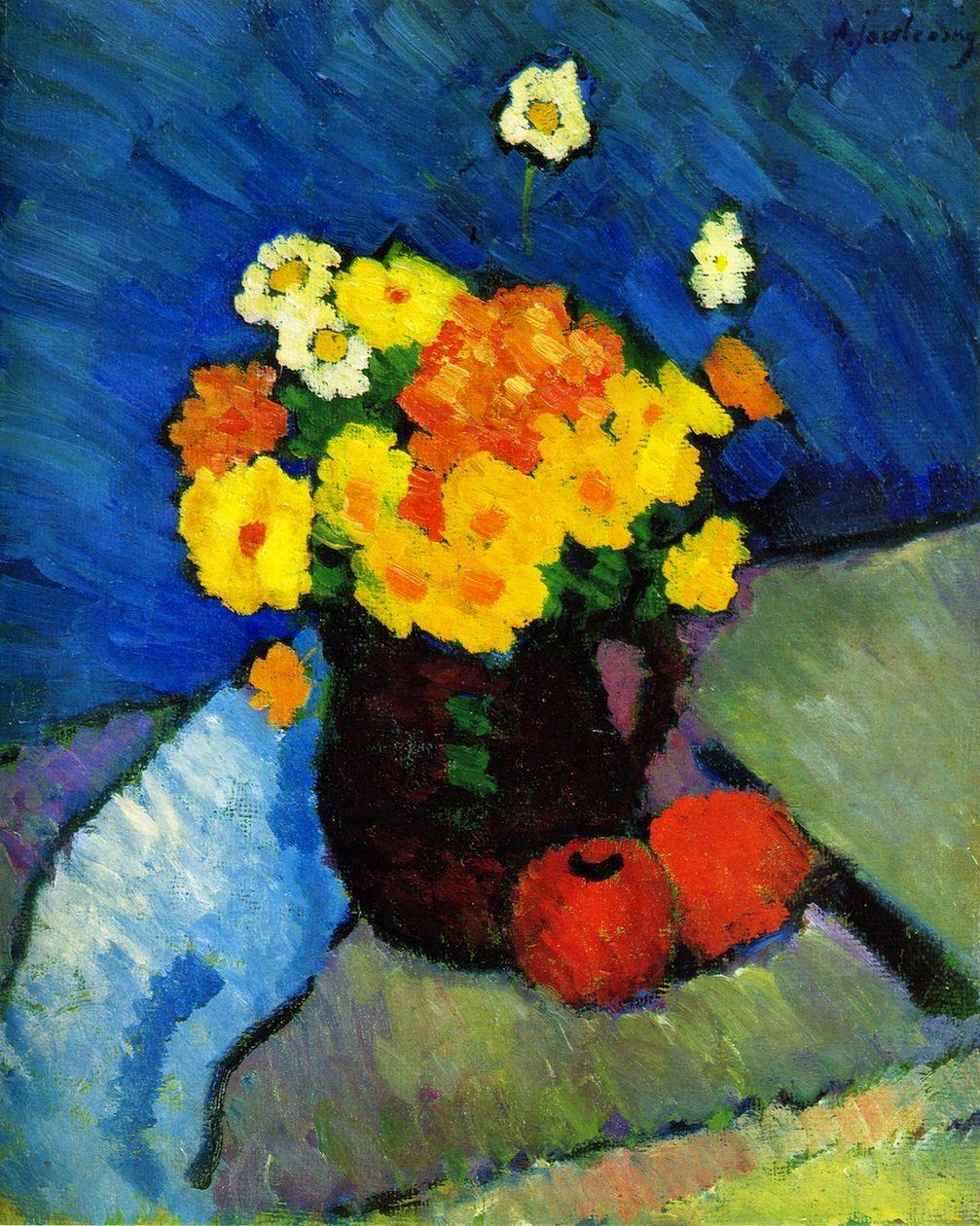 Alexei Jawlensky Floral Life 1910 Expressionism Blaue Reiter Kandinsky