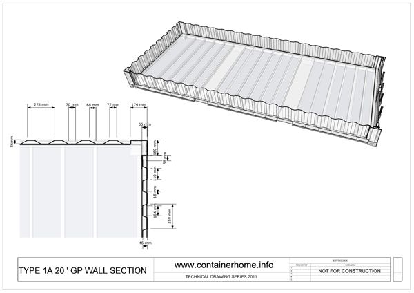 Container house construction details picture modular for Plan conteneur
