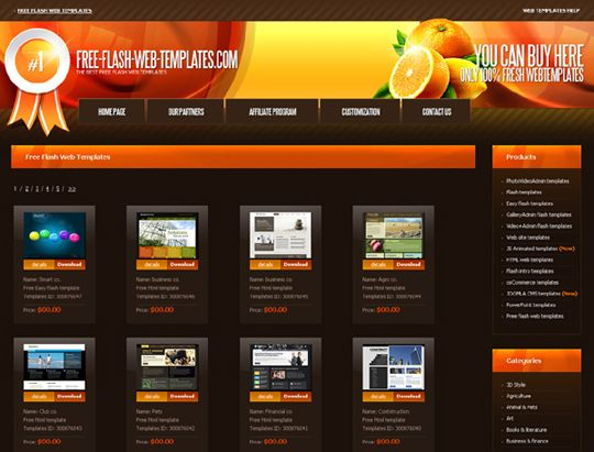 Places to Download Free Website Templates and Free Flash Templates
