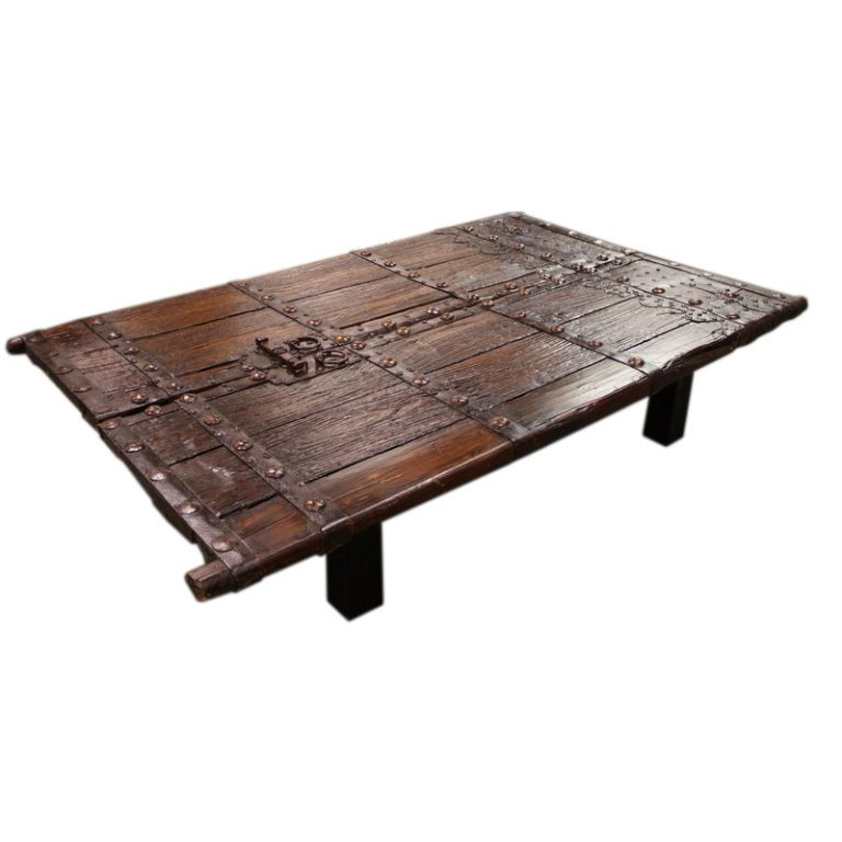 1stdibs | Large, Low Antique Chinese Door Coffee Table - Large, Low Antique Chinese Door Coffee Table Door Coffee Tables