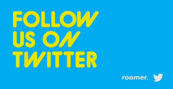 Follow the Roomer live feed via #Twitter!