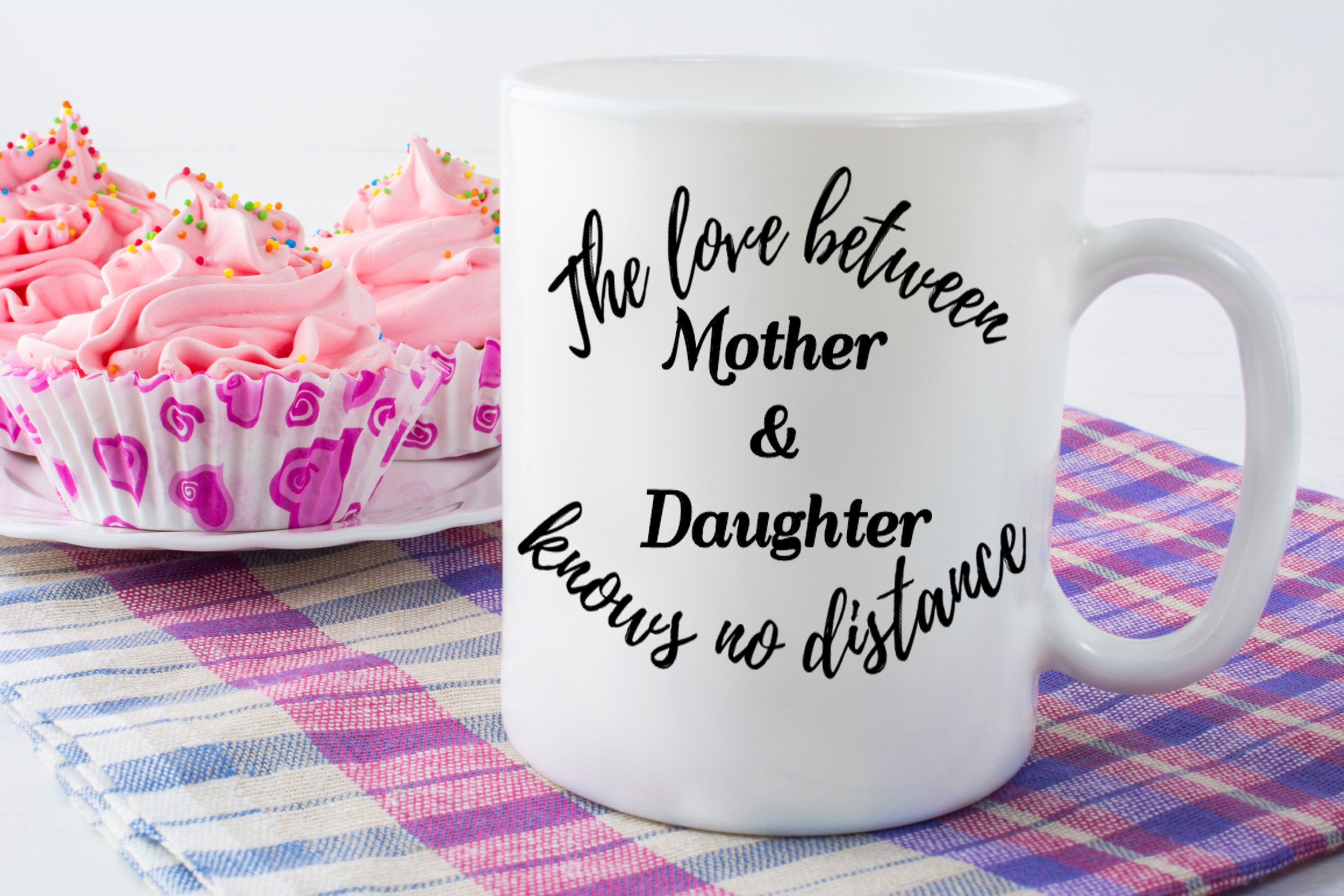 Ceramic coffee mug long distance family gift for mother