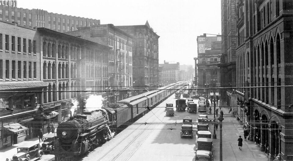 Image result for trains running in the streets