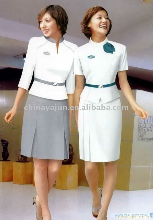 Stylish and fitted uniform for hotel manager uniforms - medical receptionist