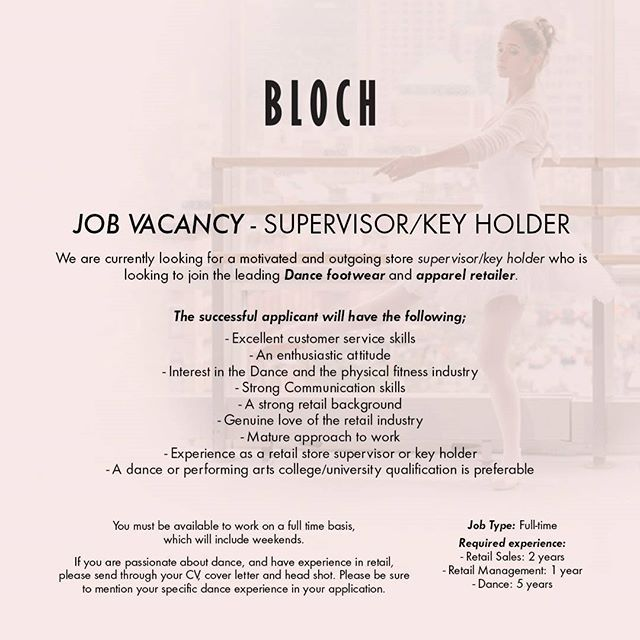 Pin by Bloch Dance on Everything BLOCHEU Pinterest Pointe shoes - Retail Management Cover Letter