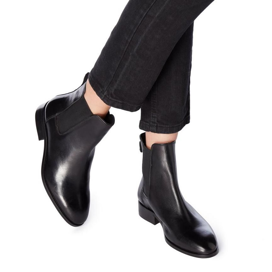Dune London   Black heeled ankle boots
