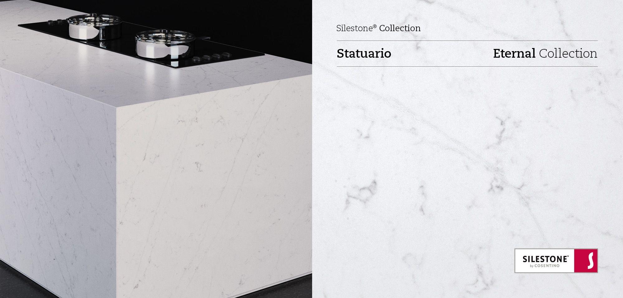Best Silestone Eternal Statuario Harmoniously Combines White 400 x 300