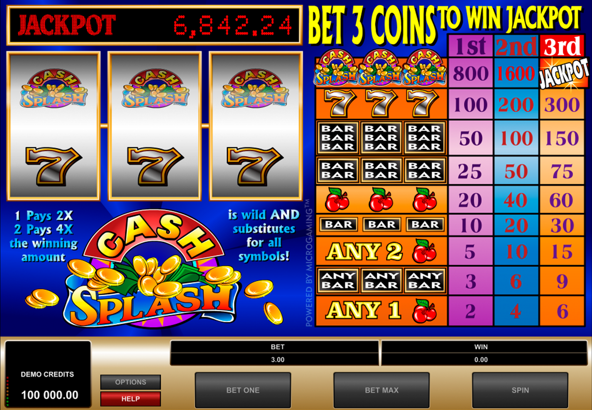 CashSplash on tottakai valtava kolikkopeli netissä, joka on Microgaming kehittääjä. Tämä valtava kolikkopeli varmasti sopii jokaisille pelajalle joka tykkä pelata kasinopelit netissä. Pelissa on hyvää grafiikka, suuret voitot ja valtavat jettipottit!