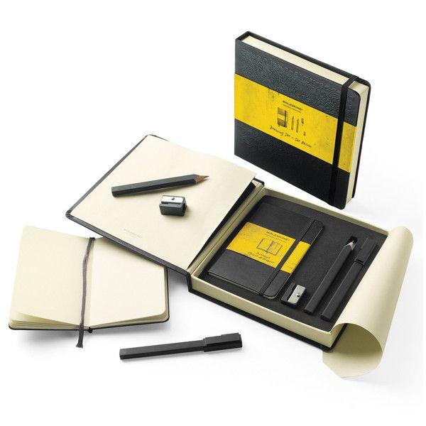 Moleskine - Drawing-set gift box ($55) found on Polyvore