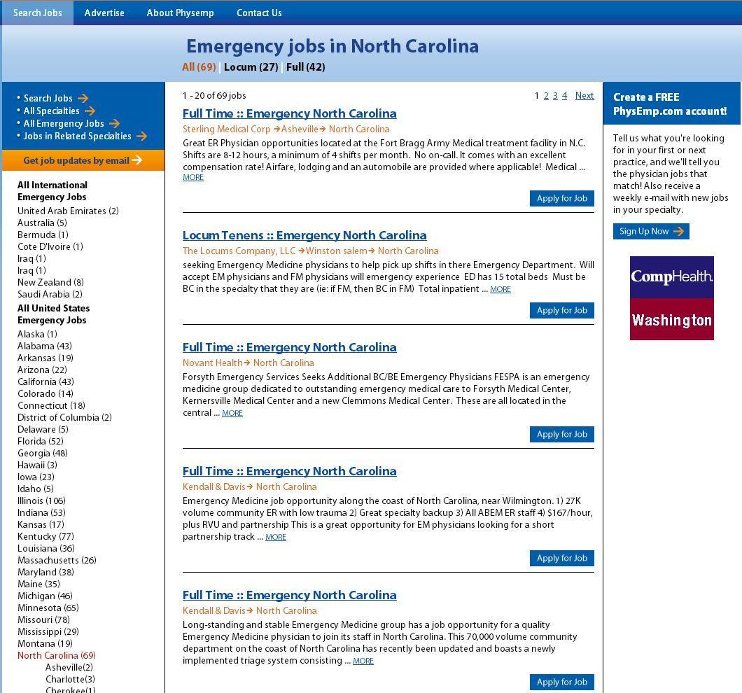 Emergency Medicine Jobs in North Carolina. Emergency