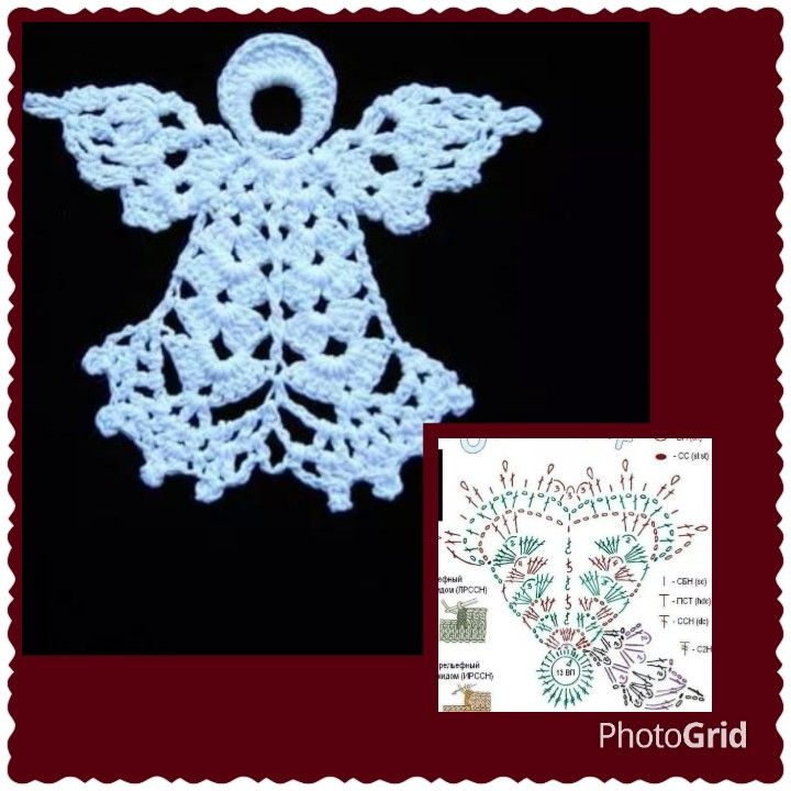Crochet Angel Baptism Gift Christmas Lace Angel Ornament Tree: Crochet Angels, Crochet