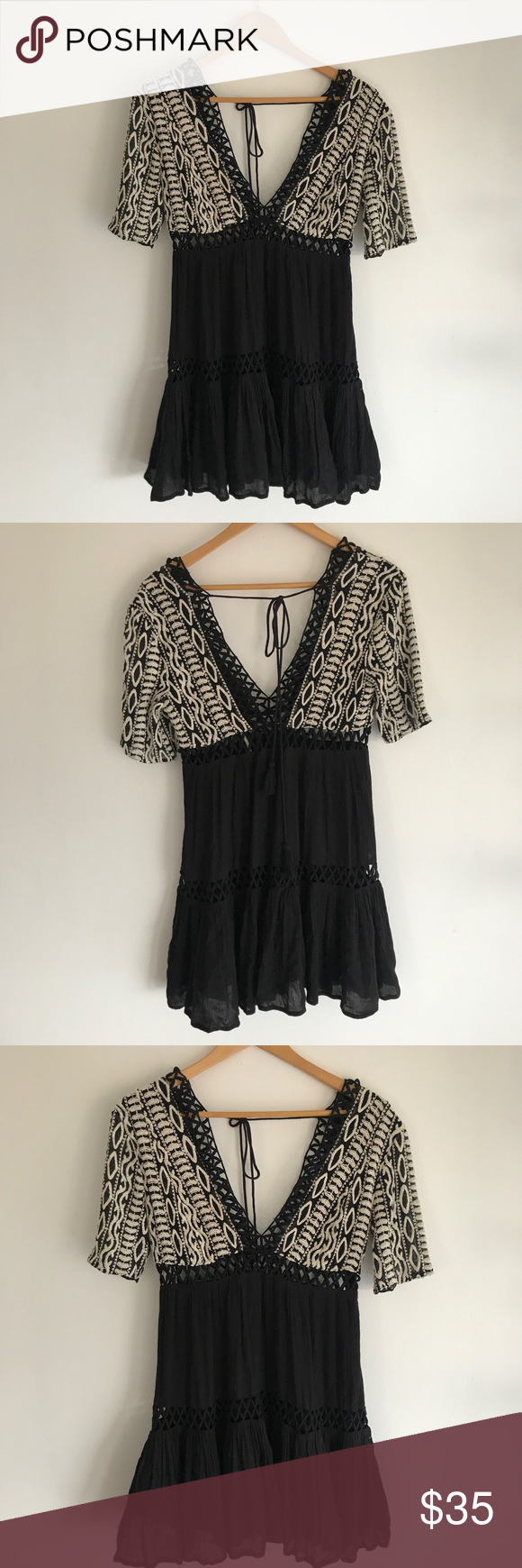 Free people dusk till dawn mini boho dress xs dusk till dawn free